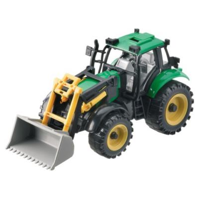 Traktor markolóval 1/27 zöld - Mondo
