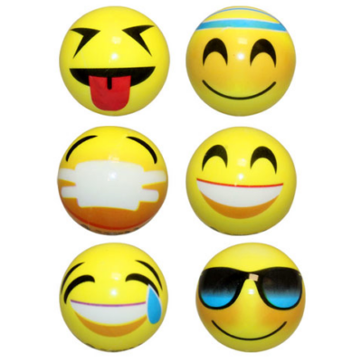 Emoji gumilabda 6cm többféle változatban