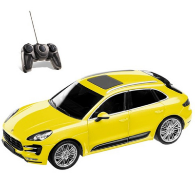 RC Porsche Macan Turbo sárga 40MHz 1:14 távírányítós autó - Mondo Motors