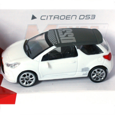 Fast Road: Citroen DS3 fehér fém autómodell 1/43 - Mondo Motors