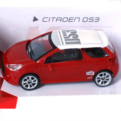 Fast Road: Citroen DS3 piros fém autómodell 1/43 - Mondo Motors