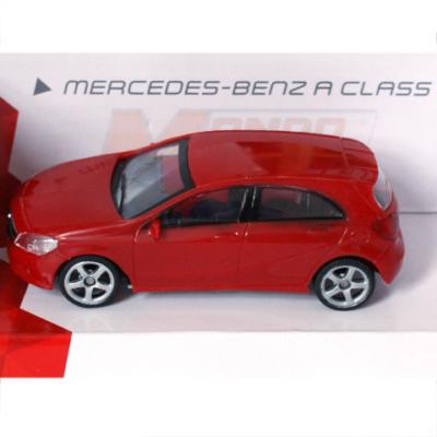 Fast Road: Mercedes-Benz A Class piros fém autómodell 1/43 - Mondo Motors