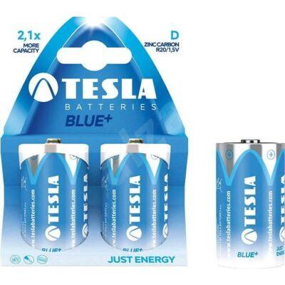 Tesla Batteries Blue+ D féltartós góliát elem (Blue, góliát, R20, 1,5 V) - 2 db / csomag