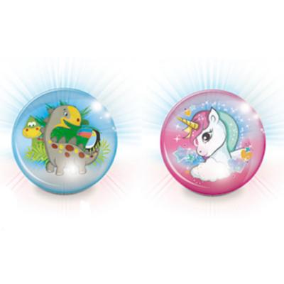 Dínós vagy unikornisos villogó labda 10cm - Mondo Toys