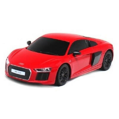 Audi R8 1:24 17,4cm távirányítós modell autó Rastar 72300 RTR modellautó - piros