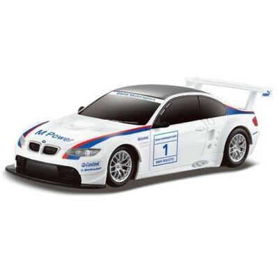 BMW M3 GT2 1:24 20,5cm távirányítós modell autó Rastar 48300 RTR modellautó - fehér