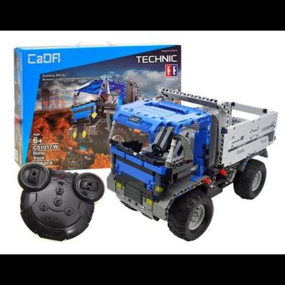 Double Eagle távirányítós építőkészlet játék szett billenőplatós RC kamion (638 db, 35,0 cm 2.4GHz) teherautó munkagép EE Double E CaDa (C51017W)