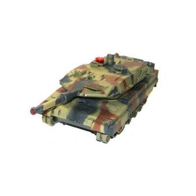 UF 516 német Leopard 1:18 (36cm) távirányítós játék infra tank harckocsi (tankcsata életerővel RC RTR UniFun 516) - zöld terepszínű