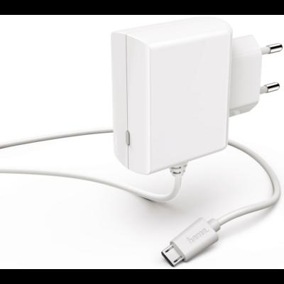 Hama hálózati töltő 100-240V micro USB, fehér, 1,2A (183254)