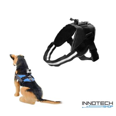GoPro SJCAM kutyahám egy kameraállással (kutyás akció kamera rögzítő tartó kutya hám) - fekete