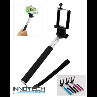Extra nagy (1,1 m) teleszkópos telefon és akció kamera tartó selfie szelfi bot monopod - fekete