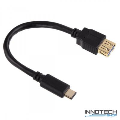 Hama usb type-c - usb a 0,15m adapter adat kábel (135712)