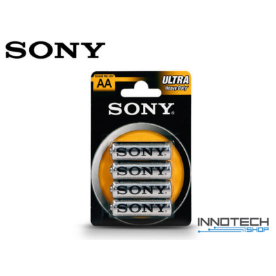 Sony Ultra Carbon Zinc AA féltartós ceruza elem - 4 db/csomag (SUM3 R6 1,5V)