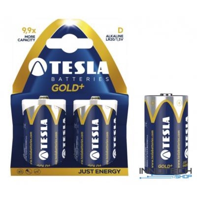 Tesla Batteries Gold+ D alkáli góliát elem (Gold, góliát, LR20, 1,5 V) - 2 db / csomag