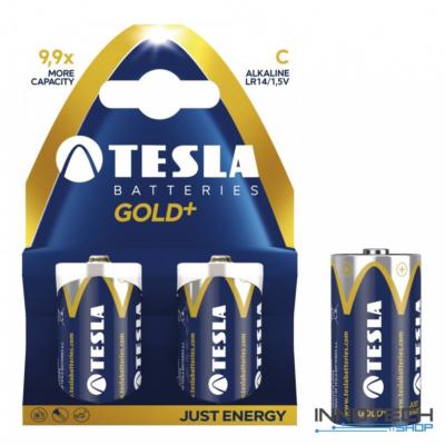 Tesla Batteries Gold+ C alkáli baby elem (Gold, baby, LR14 bébi, 1,5 V) - 2 db / csomag