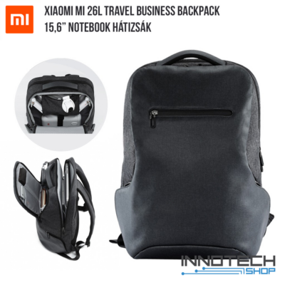 """Xiaomi Mi 26L Travel Business Backpack - 15.6"""" notebook / laptop hátizsák (XM26LTRBUBPGR laptop táska) - sötétszürke"""