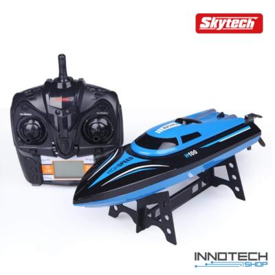Skytech H100 nagy sebességű vízálló RC versenyhajó távirányítós hajó (25km/h végsebességgel) - kék