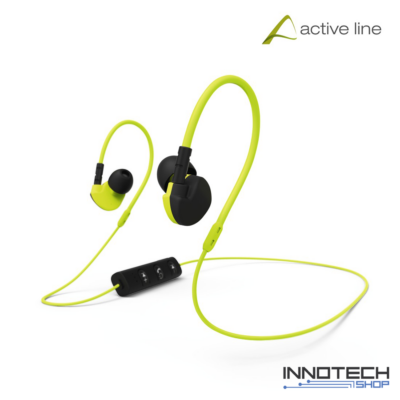 Hama CLIP-ON stereo bluetooth sport headset fülhallgató - sárga (177095)