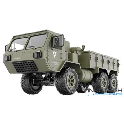 Fayee FY004 6x6 távirányítós óriás amerikai katonai szállító jármű 48cm 2.4GHz 1:12 U.S. Army harci munkagép - zöld