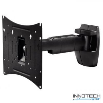 Hama Full Motion L 200 x 200 falitartó - fekete (fali LCD TV tartó konzol kar) (96039)
