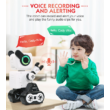 JJRC R4 CADY WILE RC Robot 25,5cm interaktív programozható okosrobot (intelligens hang,- érintésvezérléssel,  távirányítós játék) - szürke