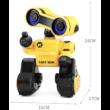 JJRC R13 CADY WIRI RC Robot 24cm programozható interaktív okosrobot (intelligens hang,- érintésvezérléssel, távirányítós játék) - sárga