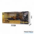 Távirányítós homlokrakodó 37 cm 1:18 RC játék munkagép buldózer Huina Toys 1520 RTR