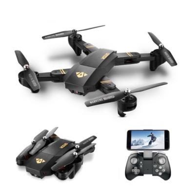 VISUO XS809HW Összecsukható Wifi FPV 32.5cm 2.4GHz élőképes kamerás drón quadcopter (XS809 HW 720P HD kamerás drón) - fekete