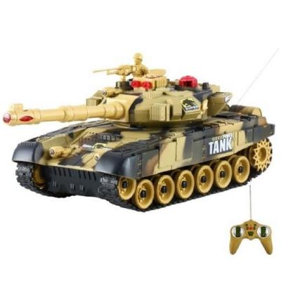 BT T90 orosz T-90 1:24 31cm távirányítós játék infra csata tank harckocsi (tankcsata életerővel RC RTR Brother Toys No. 9993) - barna terepszínű