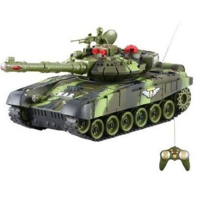 BT T90 orosz T-90 1:16 40cm távirányítós játék infra csata tank harckocsi (tankcsata életerővel RC RTR Brother Toys No. 9995) - zöld terepszínű