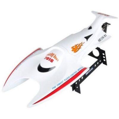 Double Horse 7016 nagy sebességű vízálló RC versenyhajó 1:10 45cm 2.4GHz 15km/h távirányítós hajó - piros