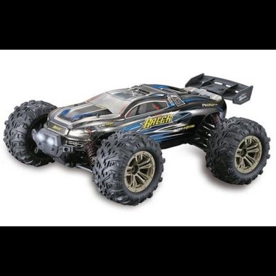 XLH 9136 profi Truggy Racer 4WD 36km/h nagy sebességű 1:16 28.5cm RC távirányítós autó (2.4GHz 4x4 Li-ion RTR terepjáró versenyautó) - kék