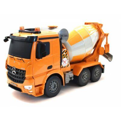 Mercedes-Benz Arocs betonkeverő teherautó 37 cm 1:20 távirányítós RC játék munkagép Double Eagle E528-003 RTR EE Double E